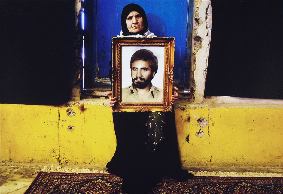 Light From The Middle East: New Photography - Newsha Tavakolian. From the series Mothers of Martyrs 2006, V&A