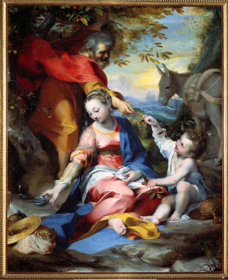 Barocci: Brilliance and Grace - X7258 Federico Barocci (1535-1612),,Rest on the Flight into Egypt, about 1570-73,,Oil on canvas 133 x 110 cm,,Vatican Museums, Vatican City. cat. 40377,,© 2013. Photo Scala, Florence
