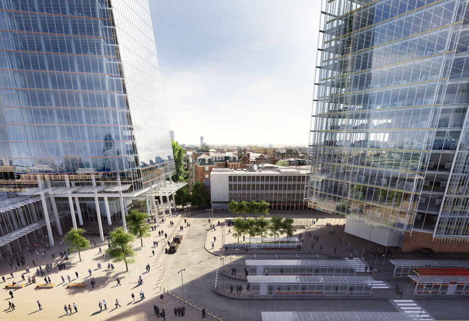 The Shard - London Bridge Quarter: piazza, photo courtesy of Sellar Property Group