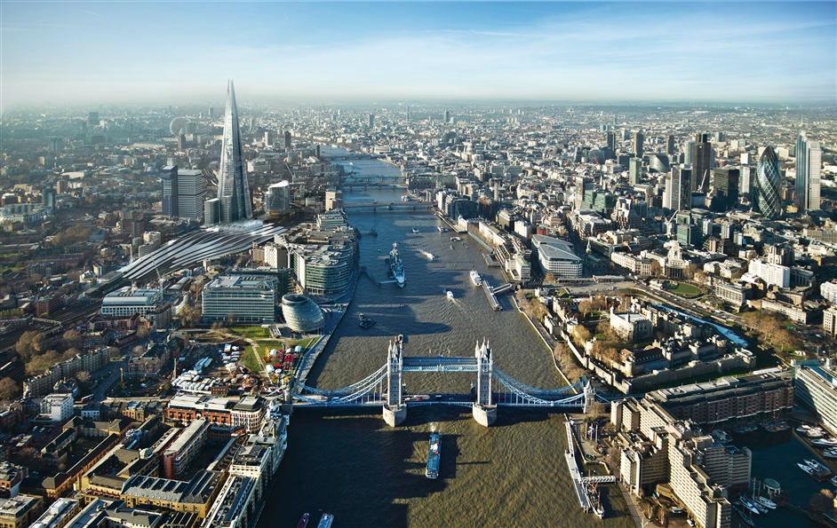 The Shard - The Shard from Tower Bridge, photo courtesy of Sellar Property Group