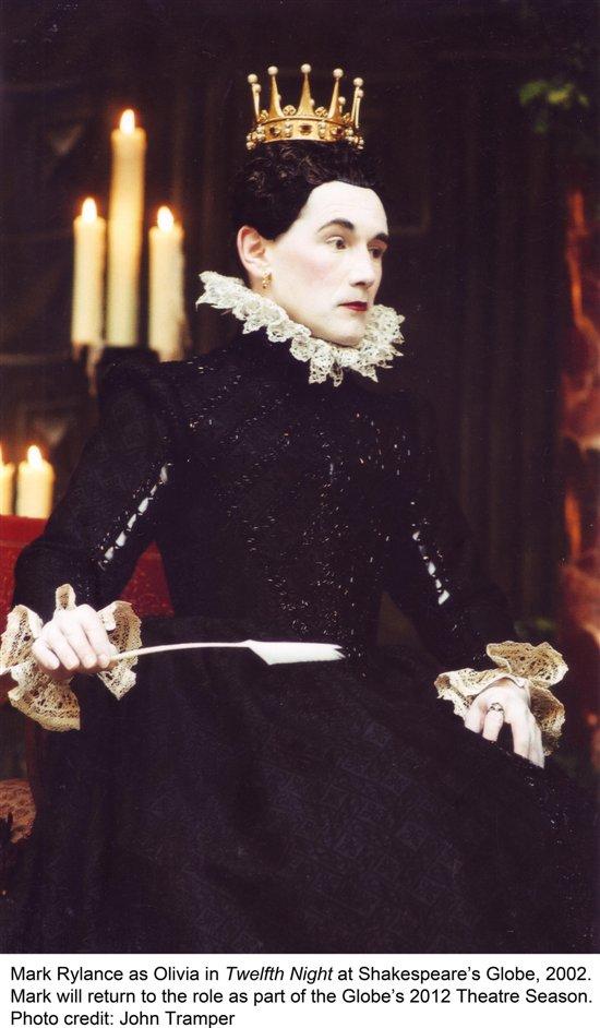 Twelfth Night - Mark Rylance as Olivia in Twelfth Night, Shakespeare's  Globe 2012