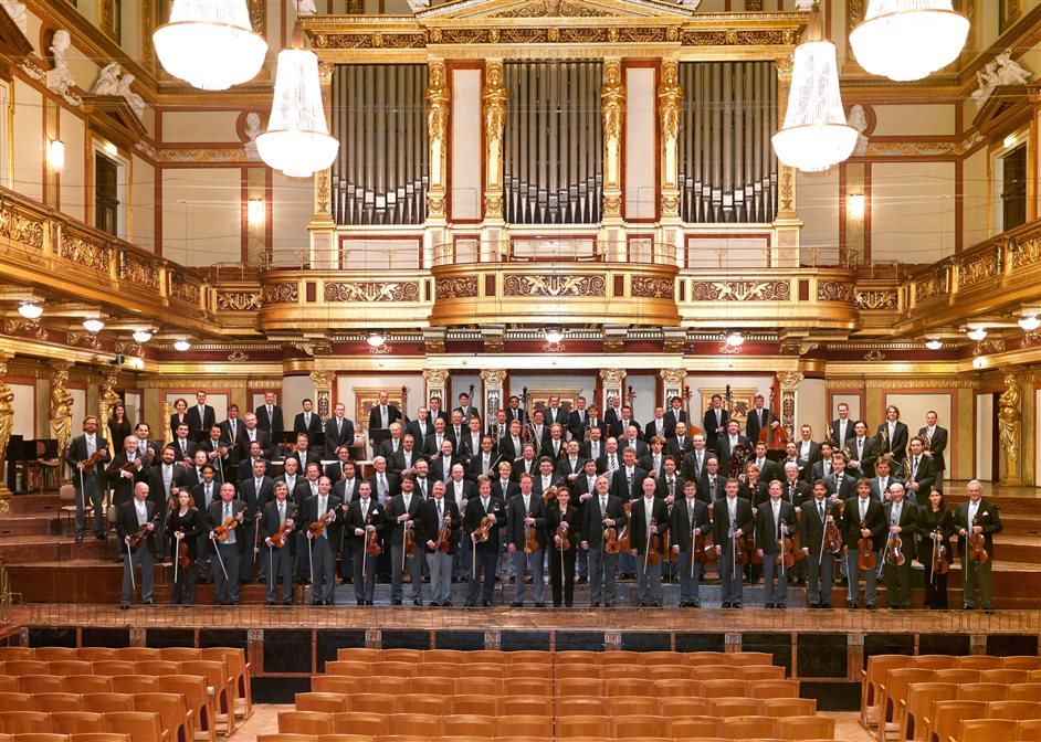 Vienna Philharmonic Orchestra - Vienna Philharmonic in the Musikverein. Photo: Richard Schuster