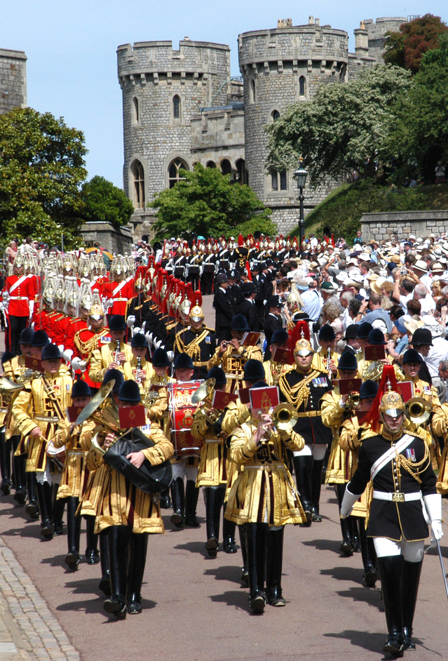Windsor Castle - The annual Order of the Garter service at Windsor Castle. Copyright Buckingham Palace Press Office