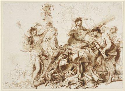 Castiglione: Lost Genius - Omnia Vanitas. Royal Collection Trust � Her Majesty Queen Elizabeth II 2013