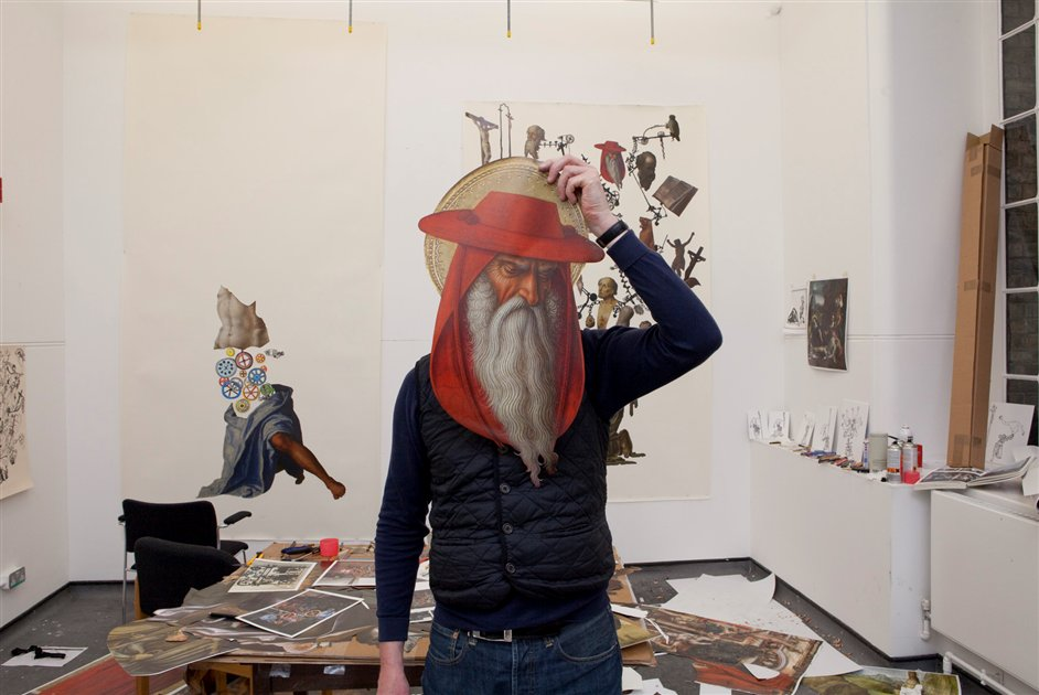 Michael Landy: Saints Alive - Michael Landy in his studio at the National Gallery, 2012 © The National Gallery, London