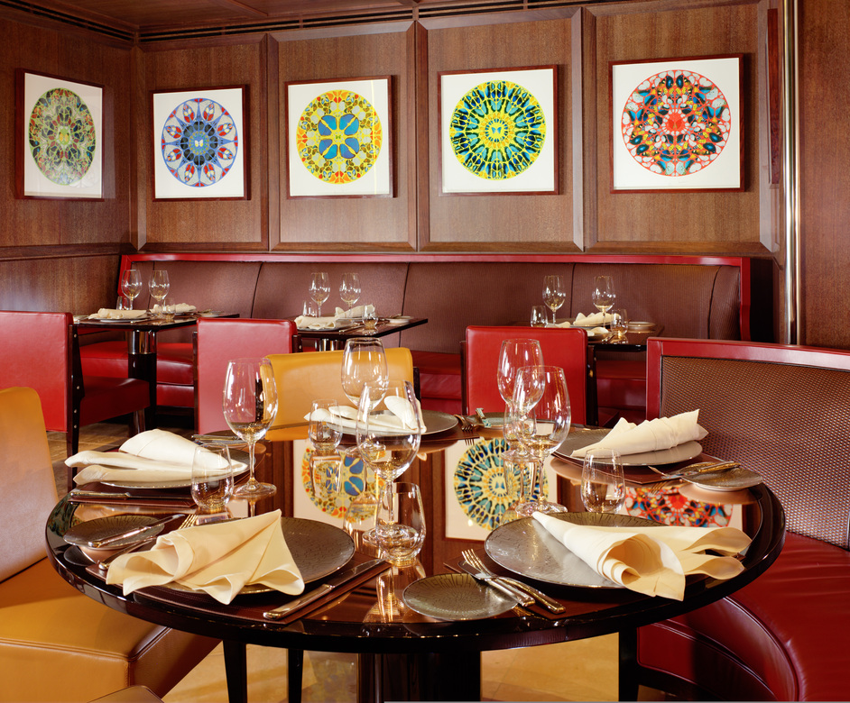 45 Park Lane - Damien Hirst artwork in the restaurant