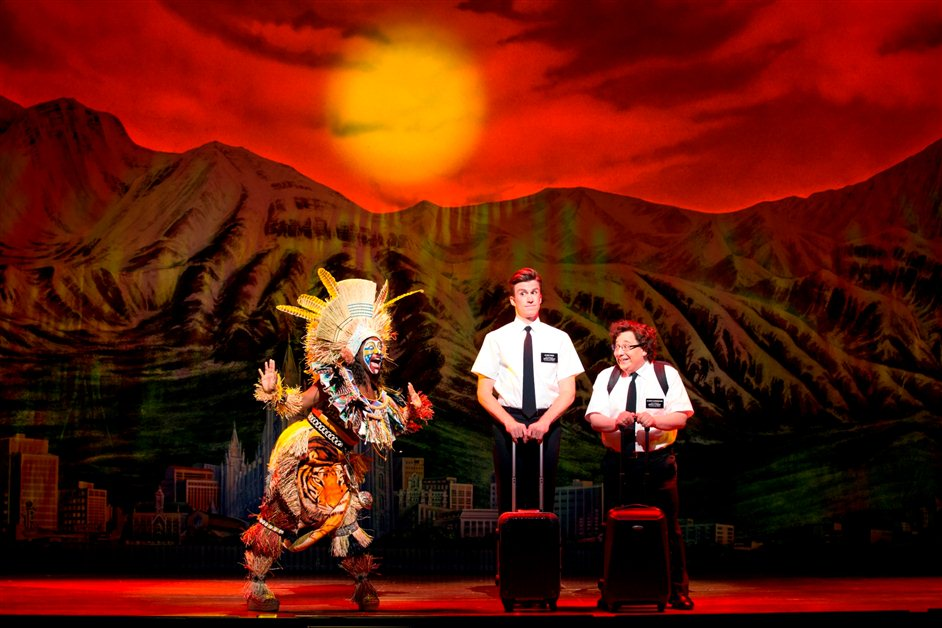 The Book of Mormon - Jared Gertner as Elder Cunningham. Photo by Joan Marcus.