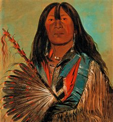 George Catlin: American Indian Portraits - Shnka The Dog Chi