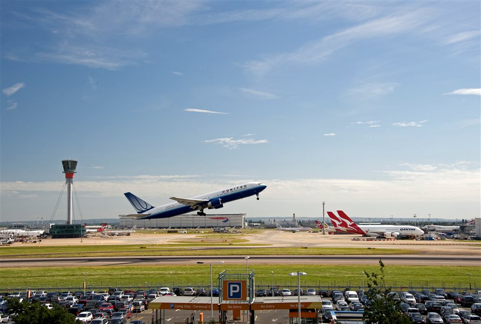 Heathrow Airport - Northern runway and tower