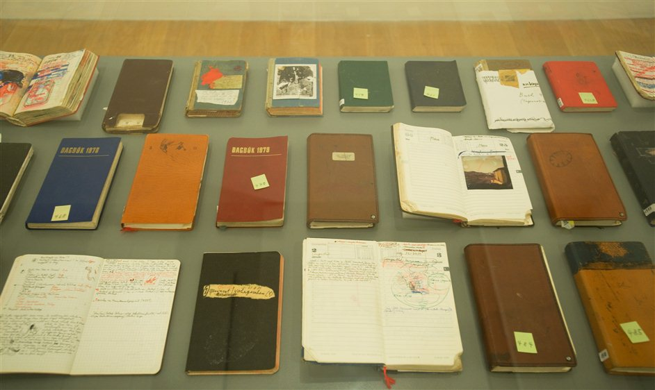 Dieter Roth: Diaries and other works - Dieter Roth 3,,Diaries, undated,,Dieter Roth Estate. Courtesy of Hauser & Wirth,,Photographs � Alan Dimmick. Courtesy The Fruitmarket Gallery, Edinburgh, 2012