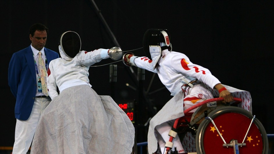 London Paralympics: Wheelchair Fencing - London 2012