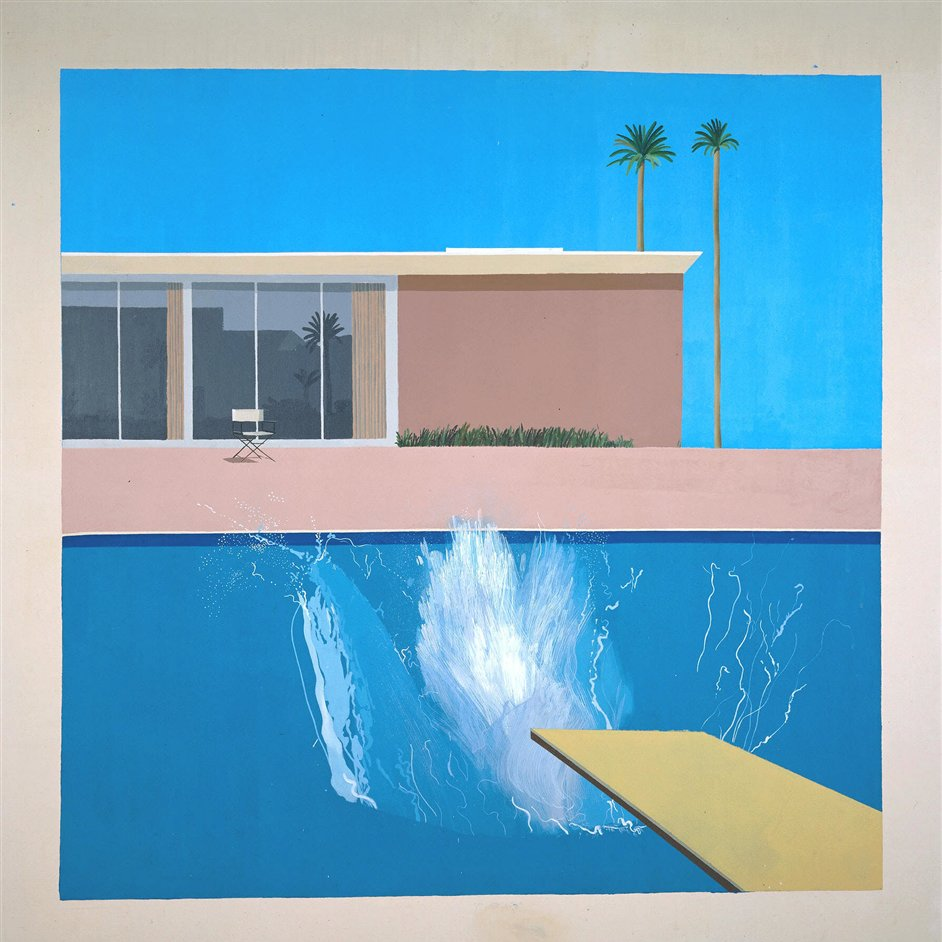 A Bigger Splash: Painting After Performance Art - David Hockney, A Bigger Splash, 1967 © David Hockney