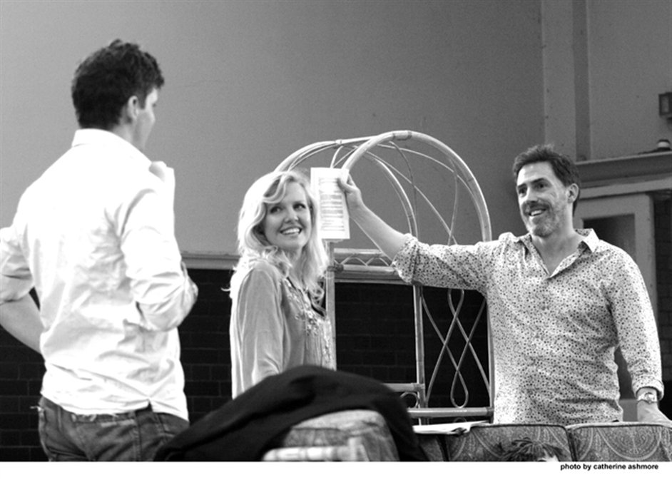 A Chorus of Disapproval - Nigel Harman, Ashley Jensen and Rob Brydon, photo by Catherine Ashmore