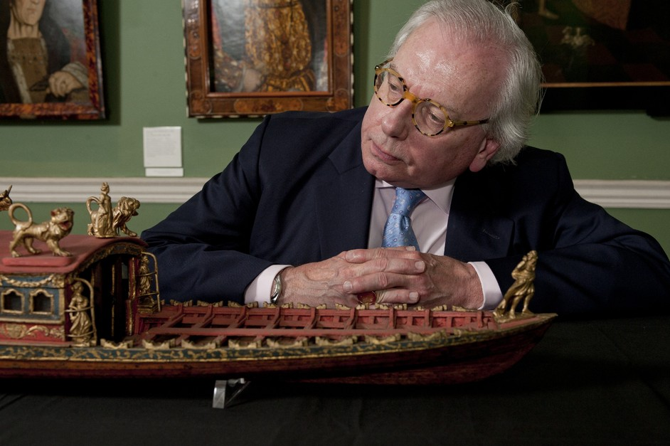 Royal River: Power, Pageantry and the Thames - David Starkey views a model of the Worshipful Company of Shipwrights ceremonial barge (c.1780)