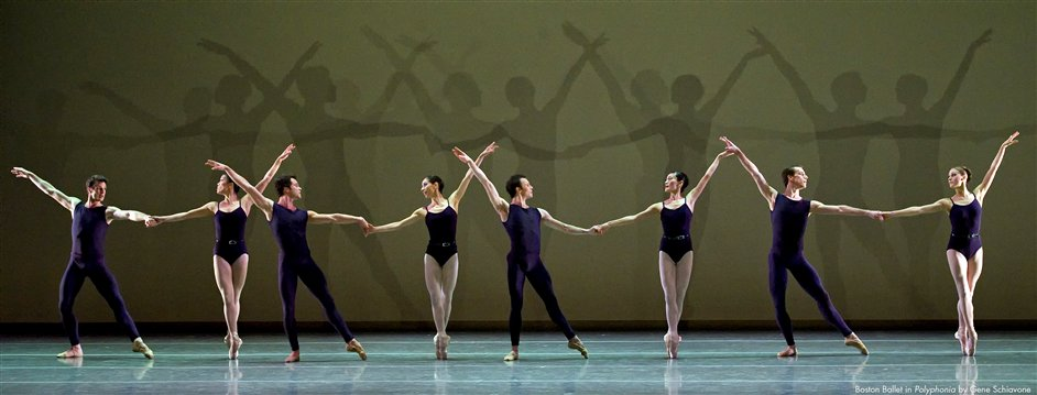 Boston Ballet: Programme 1 - Boston Ballet in Polyphonia, photo by Gene Schiavone