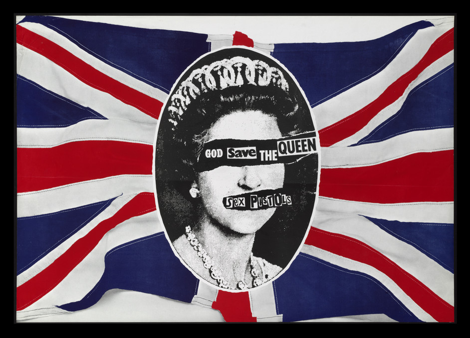 British Design 1948-2012: Innovation in the Modern Age - God Save the Queen poster, Jamie Reid