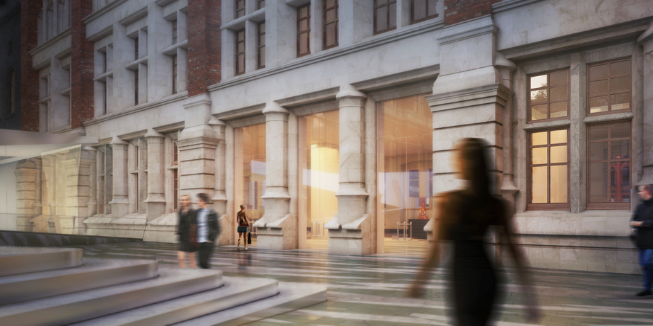 V & A Exhibition Road Project - V & A new Western range, Amanda Levete � AL_A