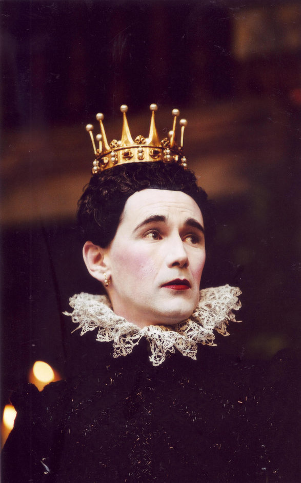 Twelfth Night - Mark Rylance as Olivia in Twelfth Night at Shakespeare's Globe, 2002. Photo by John Tramper