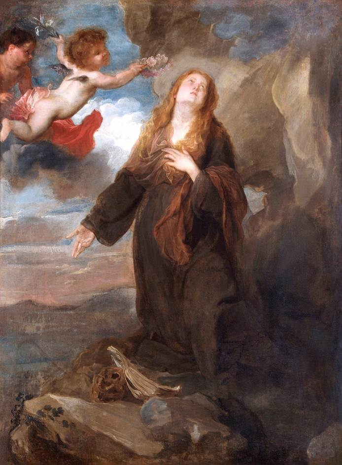 Van Dyck in Sicily: Painting and the Plague, 1624-25 - Sir Anthony van Dyck, St Rosalie crowned with Roses by Two Angels, 1624, Apsley House, Wellington Museum, English Heritage © English Heritage Photo Library