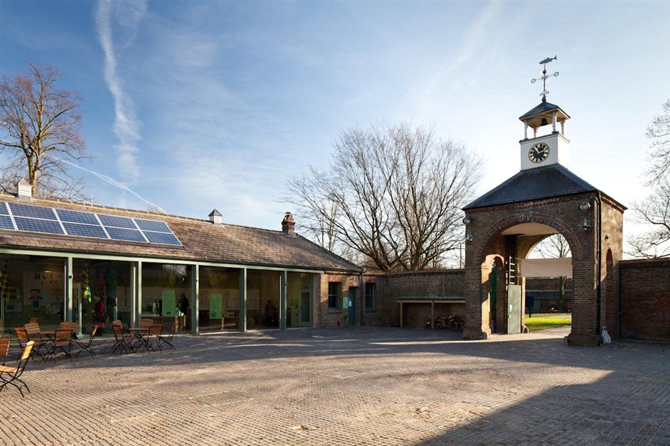 National Trust: Morden Hall Park - Stableyard clock tower, Livinggreen Exhibition
