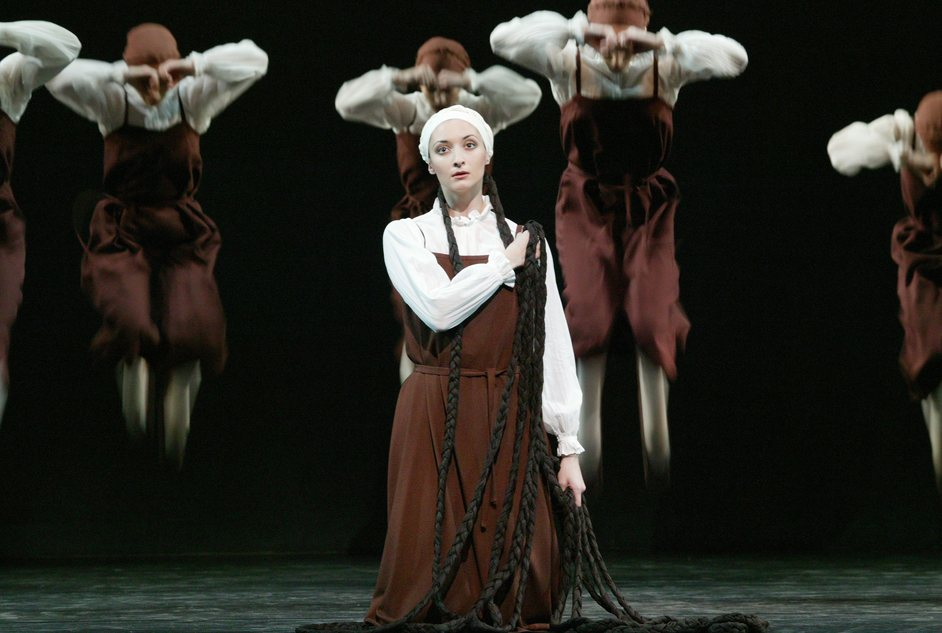 Birthday Offering   A Month in the Country   Les Noces - Christina Arestis as the Bride in Les Noces, photo by Johan Persson