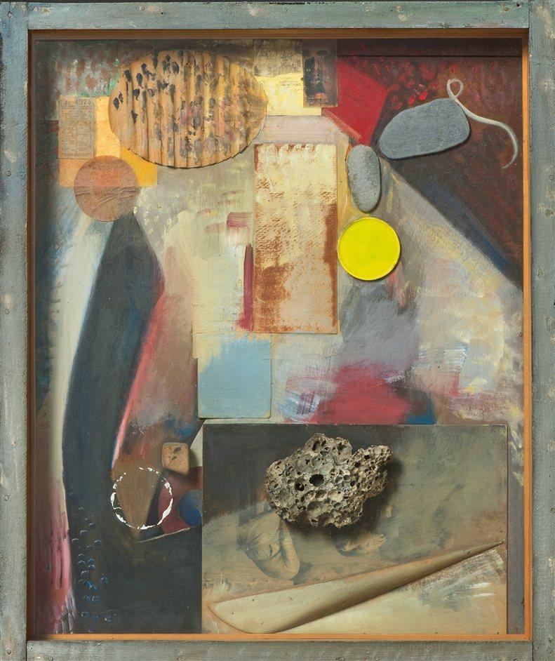 Schwitters in Britain - Kurt Schwitters, Irgendetwas mit einem Stein (Anything with a Stone) 1941-4 c Sprengal Museum, Hannover  DACS 2012