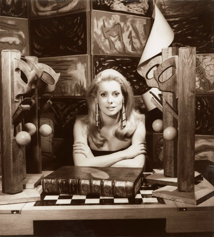 Man Ray Portraits - Catherine Deneuve, 1968 by Man Ray. Private Collection � Man Ray Trust