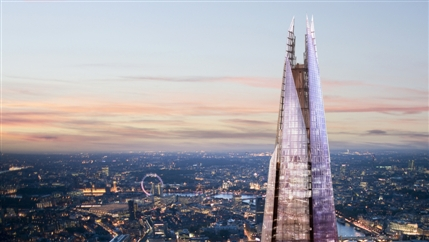Blue Stockings - The Shard spire, photo courtesy of Sellar Property Group