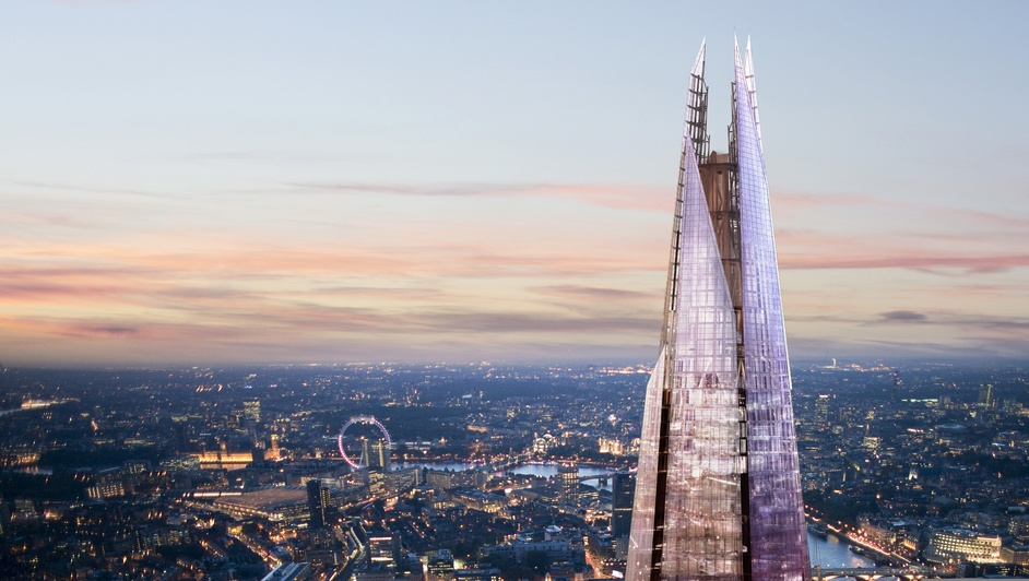 The View from The Shard - The Shard spire, photo courtesy of Sellar Property Group