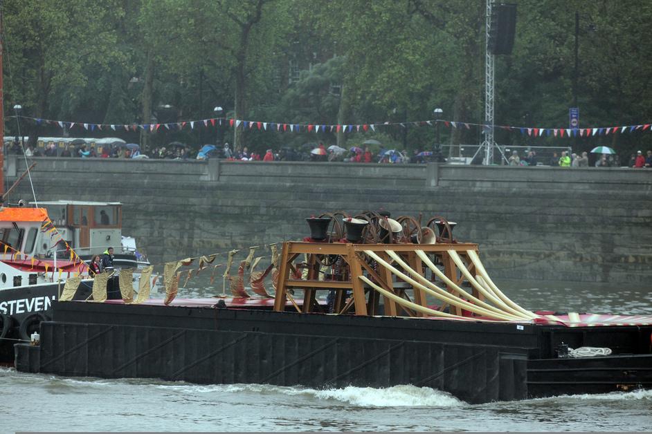 Thames Diamond Jubilee Pageant - The Royal Jubilee Bells, floating belfry. Photo by Matt Writtle