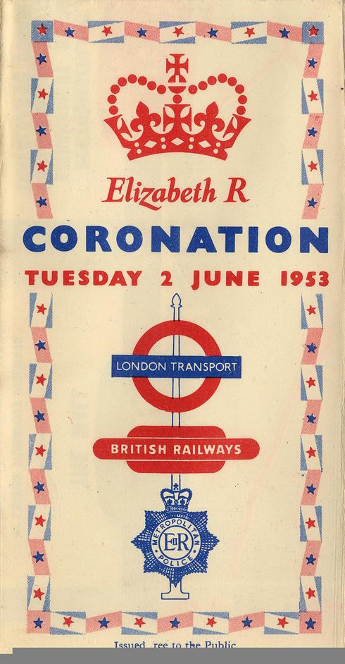Mind the Map - Pocket Coronation Map, issued by London Transport, 1953