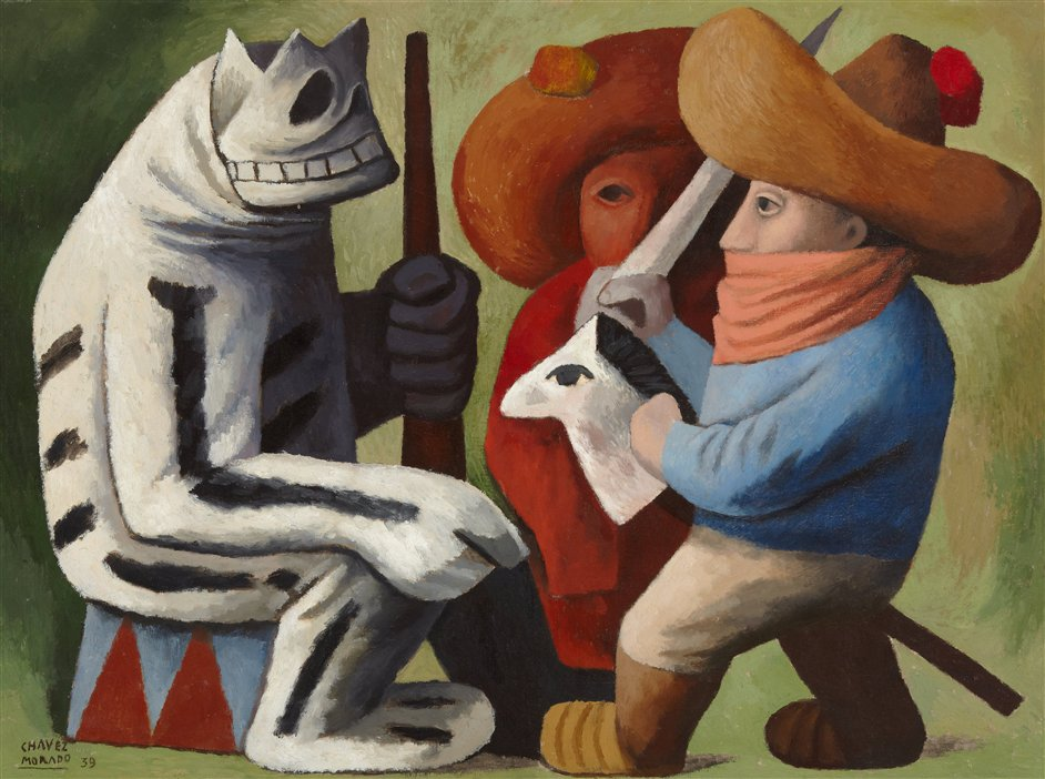 Mexico: A Revolution in Art, 1910-1940 - Jose Chavez Morado, 'Carnaval en Huejotzingo' (Carnival in Huejotzingo), 1939. Collection of Phoenix Art Museum © DACS 2012