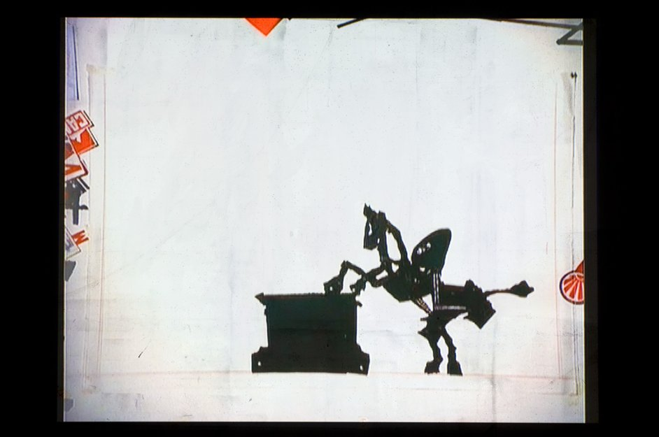 William Kentridge: I Am Not Me, The Horse Is Not Mine - William Kentridge, I am not me, the horse is not mine, video still from installation, 2008