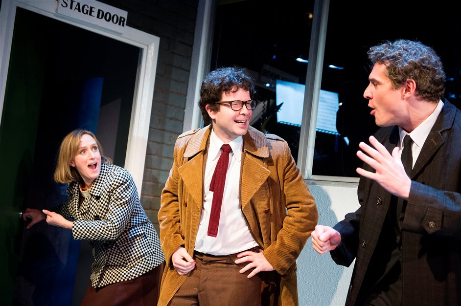 Merrily We Roll Along - Merrily We Roll Along - Jenna Russell, Damian Humbley and Mark Umbers. Photo by Tristram Kenton