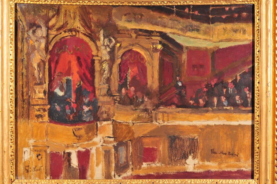 Music Hall: Sickert and the Three Graces - W. R. Sickert, The New Bedford. 1915 The Mercer Art Gallery Harrogate Borough Council. Simon Miles Photography
