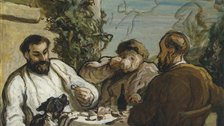 Honore Daumier, Lunch in the Country, c. 1867-1868. - © National Museum of Wales