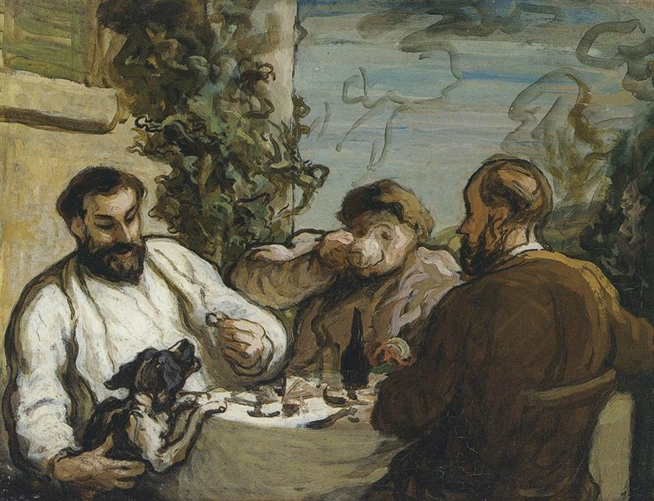 Honore Daumier - Honore Daumier, Lunch in the Country, c. 1867-1868. National Museum of Wales, Cardiff &amp;#169; National Museum of Wales