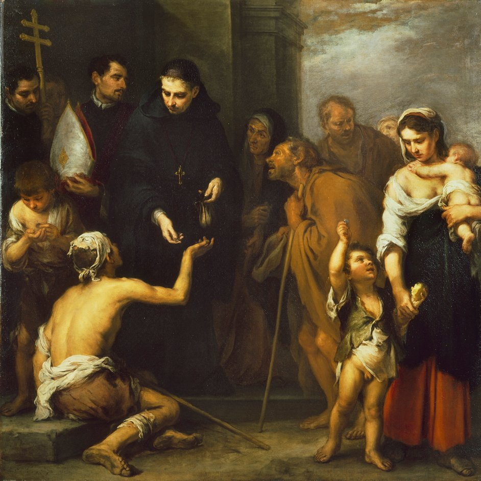 Murillo at the Wallace Collection - Bartolome Esteban Murillo, The Charity of Saint Thomas of Villanueva