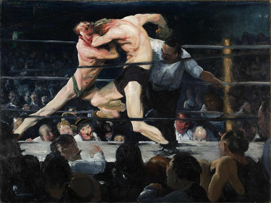George Bellows (1882-1925) - George Bellows, 'Stag at Sharkey's', 1909. The Cleveland Museum of Art, Hinman B. Hurlbut Collection © The Cleveland Museum of Art