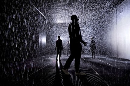 rAndom International: Rain Room - Rain Room Installation image,,� Felix Clay,,Rain Room, Random International,,2012.,,Courtesy of Barbican Art Gallery