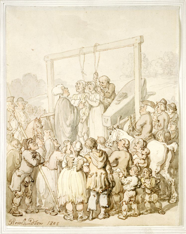 Hauntings and Hangings - An execution 1803 Thomas Rowlandson (c) Museum of London