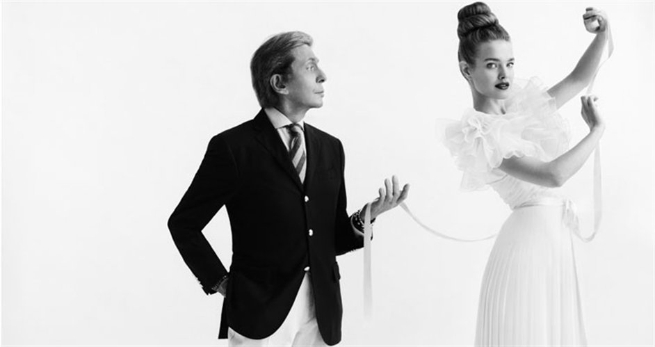 Valentino: Master of Couture - Valentino Garavani and Natalia Vodianova, 2012 © Cathleen Naundorf