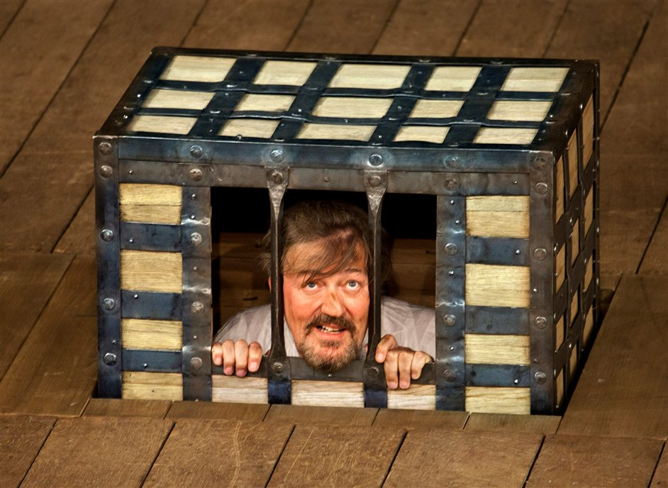 Twelfth Night - Stephen Fry as Malvolio in Twelfth Night, photo by Simon Annand