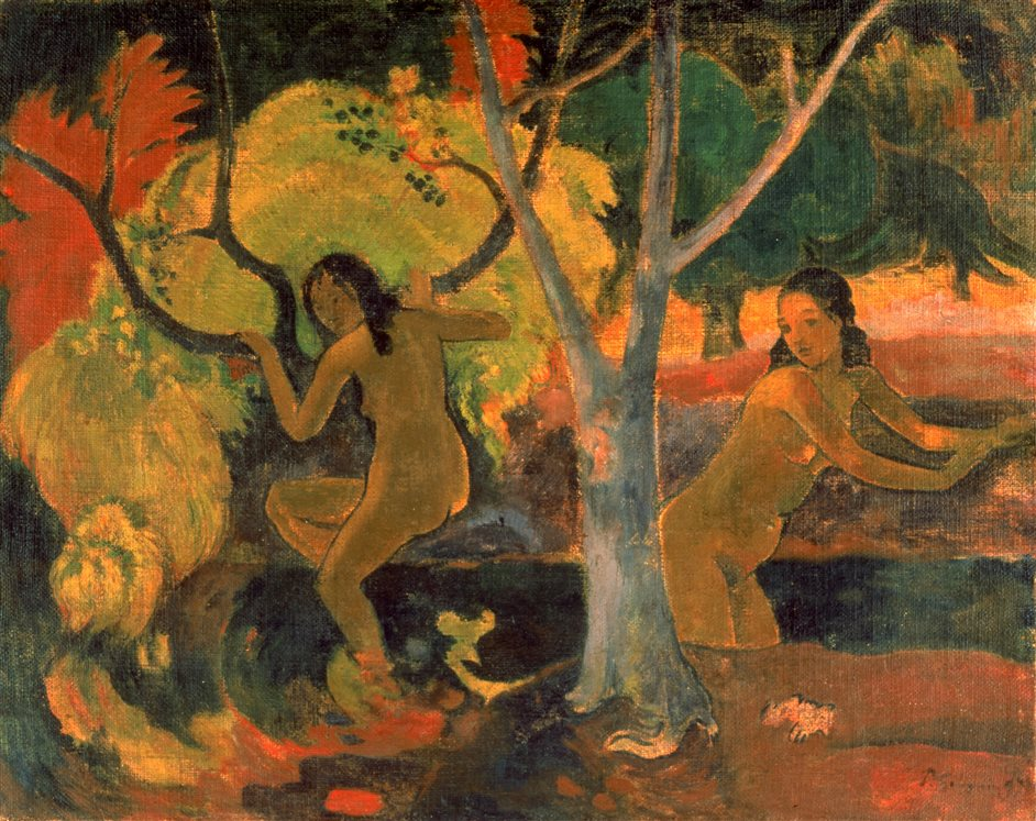 Collecting Gauguin: Samuel Courtauld in the '20s - Paul Gauguin, Bathers at Tahiti 1897 © The Trustees of the Barber Institute of Fine Arts, University of Birmingham