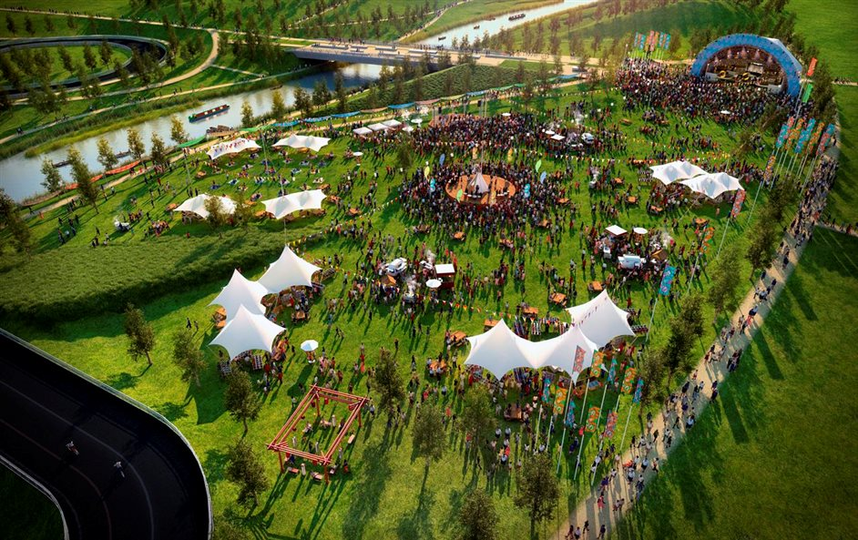 Open East Festival - EAST: Queen Elizabeth Olympic Park (Artists impression)