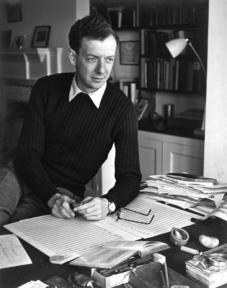 Poetry in Sound: The Music of Benjamin Britten - Benjamin Britten c1949 at Crag House, photo by Roland Haupt