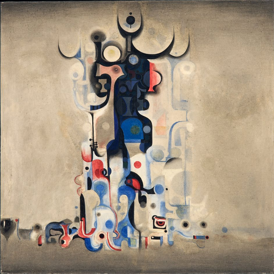 Ibrahim El-Salahi: A Visionary Modernist - Vision of the Tomb 1965 - Museum for African Art, New York � Ibrahim El-Salahi