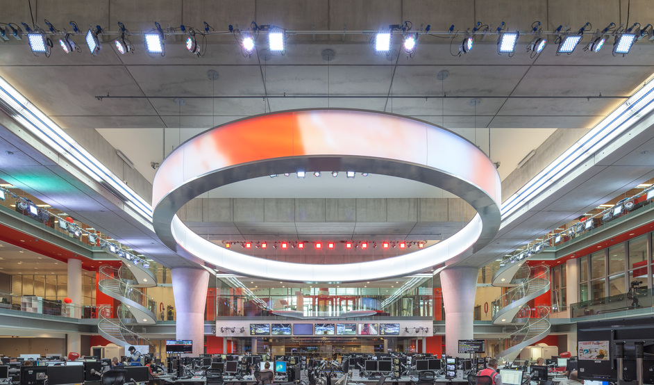 BBC Broadcasting House - BBC Broadcasting House Newsroom ©Simon Kennedy