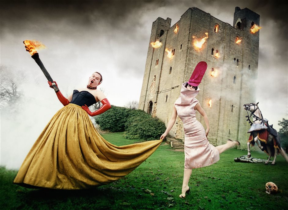 Isabella Blow: Fashion Galore! - Alexander McQueen and Isabella Blow:,,Burning Down The House, 1996, London �,,David LaChapelle Studio, Inc.