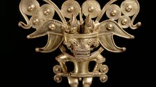 Beyond El Dorado: Power and Gold in Ancient Colombia, British Museum - Anthropomorphic bat pectoral, Tairona, gold alloy, AD900-1600 by Museo del Oro, Banco de la Republica, Colombia